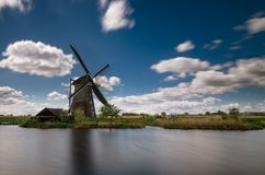 Windmill in Kinderdijk, Netherlands royalty free stock images