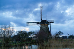 Windmill at Kinderdijk in Netherlands Stock Photo