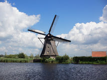 Windmill At Kinderdijk , Netherlands Royalty Free Stock Photos