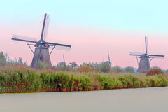 Windmill in Kinderdijk Royalty Free Stock Photography