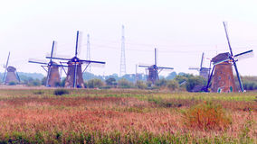 Windmill in Kinderdijk Royalty Free Stock Photos