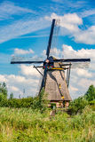 Windmill kinderdijk summer Stock Image