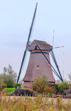 Windmill in Kinderdijk in vertical Royalty Free Stock Photography