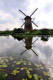Windmill in Kinderdjik. Island Netherlands Royalty Free Stock Images