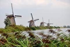 Windmill in Kinderdjik. Windmill on Kinderdjik island Netherlands Royalty Free Stock Photos