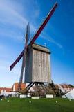 Windmill, Knokke, Belgium Royalty Free Stock Photo