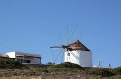 Windmill in Koufonisia island Royalty Free Stock Photos
