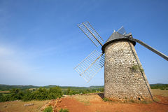 Windmill at La Couvertoirade Royalty Free Stock Image