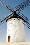 Windmill in la Mancha. On summer day Stock Images