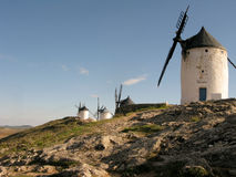 Windmill la mancha. Four windmill form la mancha royalty free stock photography