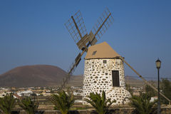 Windmill in Lajares Fuerteventura Las Palmas Canary Islands Spai Royalty Free Stock Photography