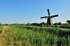 Windmill landscape Stock Photo