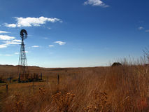 Windmill Landscape. Windmill in rural australia Royalty Free Stock Images