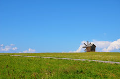 Windmill landscape Royalty Free Stock Photo