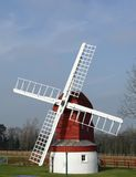 Windmill in landscape Royalty Free Stock Photo