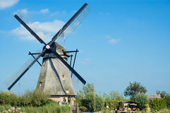 Windmill landscape. Beautiful windmill landscape at kinderdijk in the netherlands Royalty Free Stock Photography