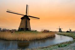 Windmill landscape Stock Image