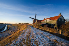 Windmill landscape Stock Images