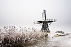 Windmill landscape Royalty Free Stock Images