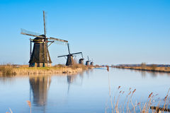 Windmill landscape Royalty Free Stock Photos