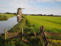 Windmill landscape in Holland Stock Photo