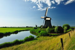 Free Windmill Landscape In Holland Stock Image - 10541891