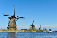 Windmill landscape at Kinderdijk The Netherlands Stock Image