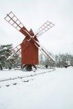 Windmill landscape in Stockholm Sweden Stock Images