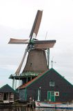 Windmill landscape in Zaanse Schans Royalty Free Stock Images
