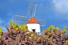 Windmill in Lanzarote Stock Image