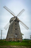 Windmill. Latvian rural windmill in autumn Royalty Free Stock Photo