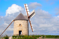 Windmill, Le Mont St Michel. The windmill, Le Mont St Michel in Normandie, France, at sunset Stock Photography