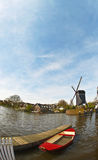Windmill in Leiden Netherlands Stock Image