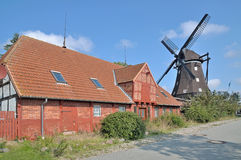 Windmill,Lemkenhafen,Fehmarn,Germany Royalty Free Stock Photography