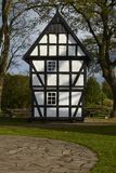 Windmill Levern (Stemwede, Germany) - Small half-timbered house Stock Image