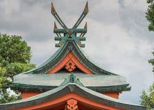 Windmill like roof structure at Fushimi Inari Taisha Shinto Shrine. Kyoto, Japan - September 17, 2016: Windmill like roof structure at Fushimi Inari Taisha royalty free stock images