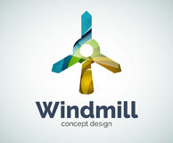 Windmill logo template Stock Photography