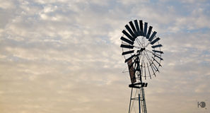 The windmill. The lone windmill in the skies Royalty Free Stock Image