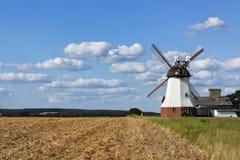 Windmill at the Luneberg Heath Royalty Free Stock Photos