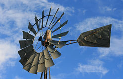 Windmill in Lusk Wyoming in the western USA Stock Images