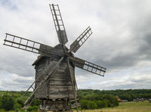 Windmill made of wood Royalty Free Stock Photography