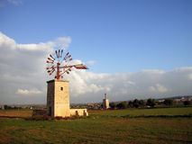 Windmill in Majorca. Windmill in the country in Majorca Stock Photography