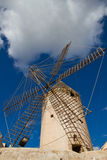Windmill in Mallorca. Old windmill in Palma de Mallorca Stock Photo