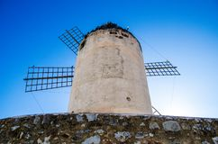 Windmill in Mallorca. Palma de Mallorca, Spain. One of the symbols of Majorca is windmills. You can find them mainly in the most fertile part of the island of Stock Photography