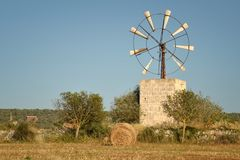 Windmill, Mallorca. Mallorca, Windmill. Spain. Mallorca - island. Mallorca landscape Royalty Free Stock Photos