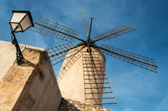 Windmill in Mallorca,Spain. Typical windmill in Mallorca, Balearic Islands, Spain Royalty Free Stock Image