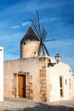 Windmill in Mallorca,Spain. Typical windmill in Mallorca, Balearic Islands, Spain Royalty Free Stock Photography