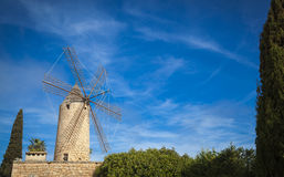 Windmill in Mallorca. Traditional old windmill of Mallorca Royalty Free Stock Photos