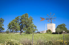 Windmill in Mallorca Stock Photography