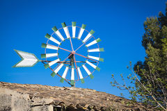 Windmill in Mallorca. Traditional old windmill of Mallorca Stock Image